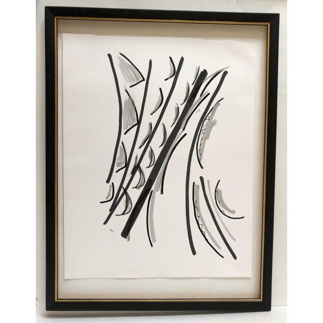 Abstract Ink Wash 13 X 17 Original by Erik Sulander For Sale - Image 4 of 4