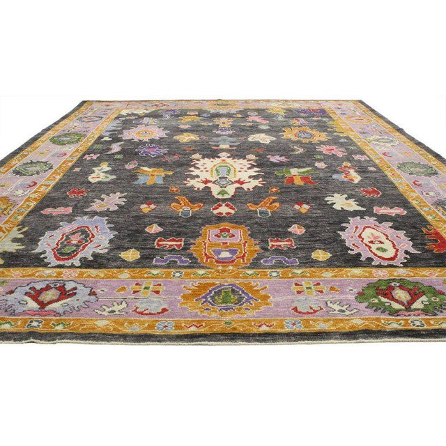 52233, contemporary Turkish Oushak rug with modern style. Infuse your home with personality by celebrating your unique...