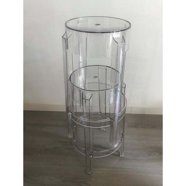 Bauhaus Modern Philippe Starck Bar Stools by Kartell- a Pair For Sale - Image 3 of 4