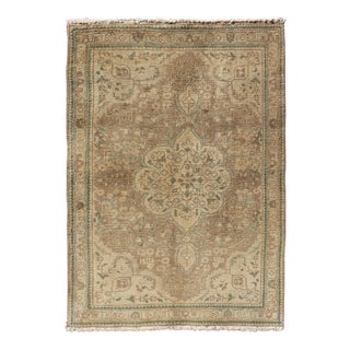 1950s Vintage Persian Tabriz Rug - 3′2″ × 4′10″ For Sale
