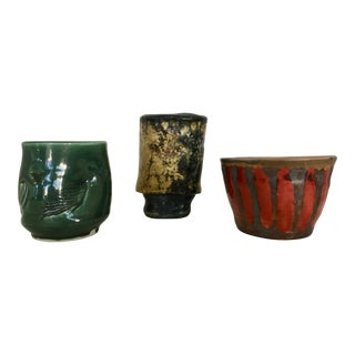 Three Signed Studio Pottery Vases