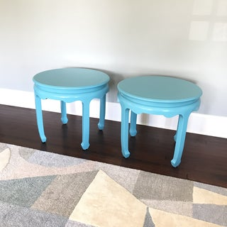 Chinoiserie Century Pagoda Ming Side Tables Round - a Pair Preview