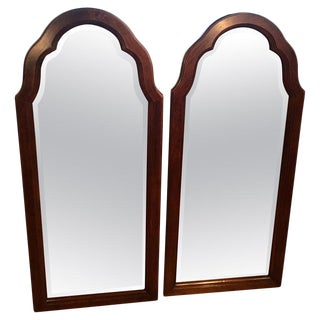 Pair of Beveled Arched Mirrors For Sale