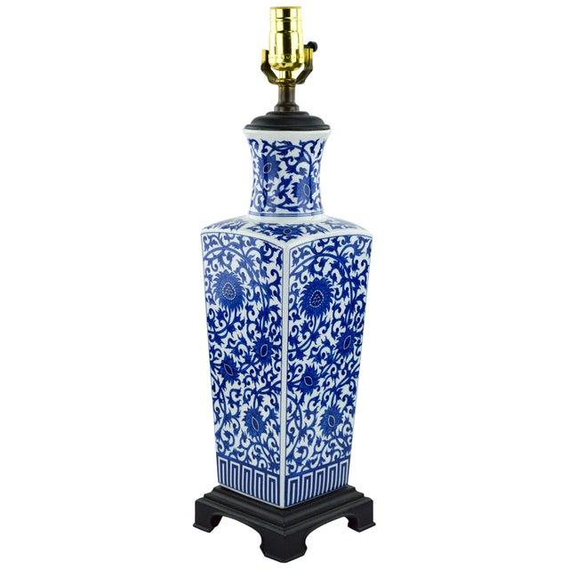 Blue & White Chinoiserie Vase Lamp - Image 1 of 8