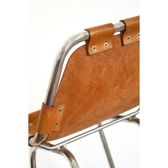 Mid-Century Modern Charlotte Perriand - Les Arcs Bar Stool - Cognac For Sale - Image 3 of 4