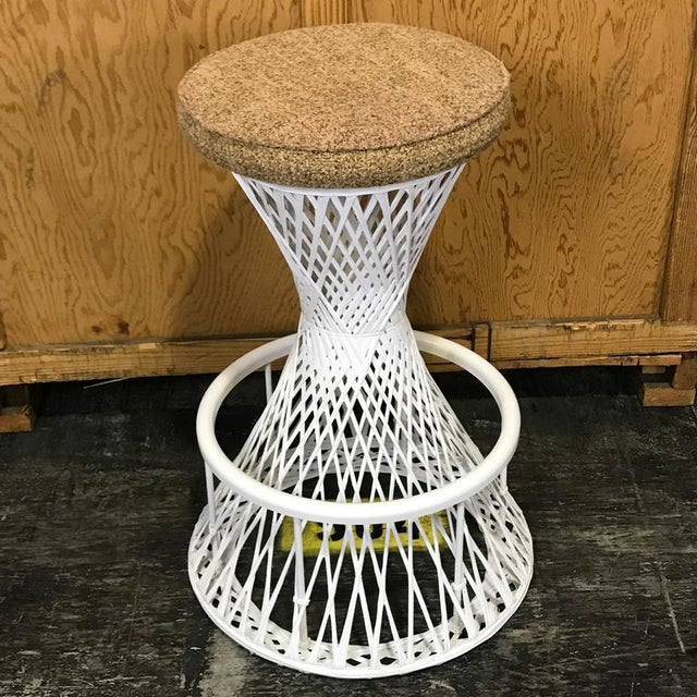 Mid 20th Century Woven and Spun Fiberglass Bar Stools by Robert Woodard - A Pair For Sale - Image 5 of 9