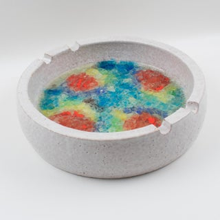 Bitossi Italy for Raymor Ceramic Ashtray Bowl Fritte Fused Glass Mosaic Preview