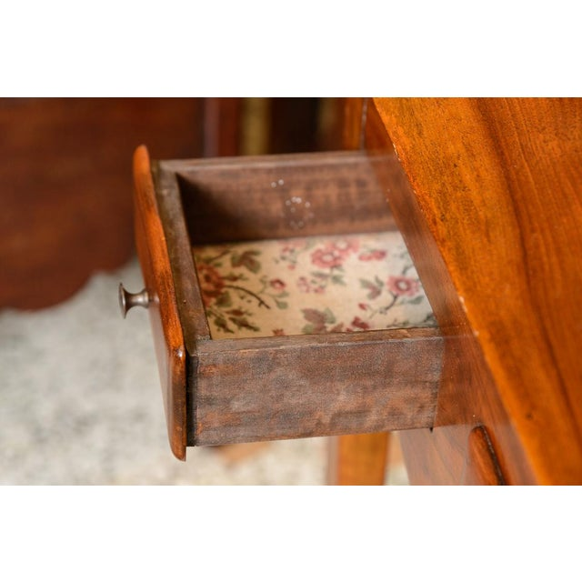 Wood French Cherry Slant Front Desk For Sale - Image 7 of 9
