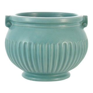 Aqua Fluted Catchall For Sale