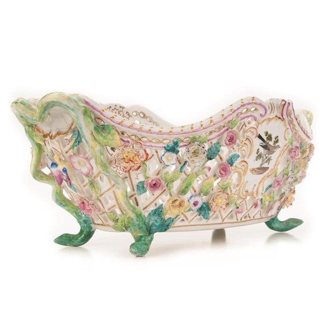 Herend Antique 16' Porcelain Centerpiece - Image 5 of 10