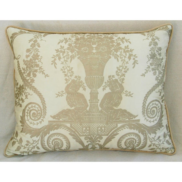 Custom Italian Fortuny Lamballe Pillows - Pair - Image 4 of 11