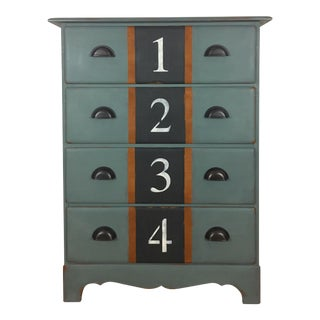 Solid Wood Petite Numbered Chest of Drawers