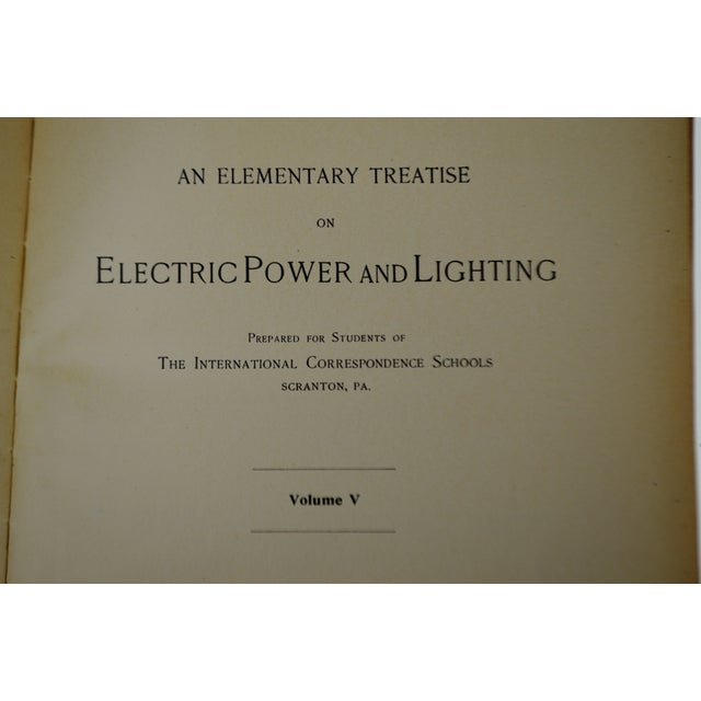 Late 19th Century Antique 1897 an Elementary Treatise on Electric Power and Lighting Vol. I 1st Edition Book For Sale - Image 5 of 10