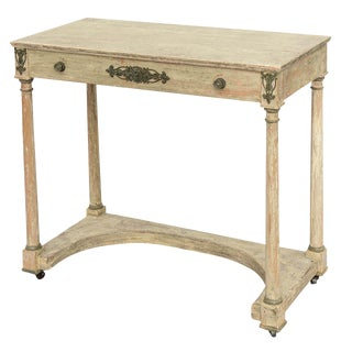 Painted French Empire Console Table For Sale