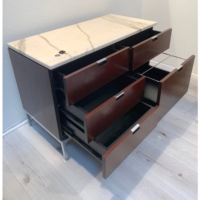 """The """"Florence"""" Office Credenza, originally designed in 1961 when Florence Knoll revolutionized private office design by..."""