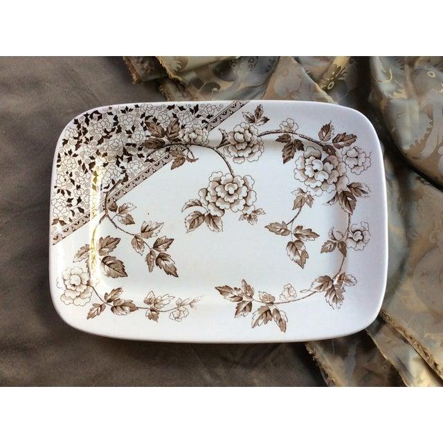 Antique Large Staffordshire Transfer Ware Platter For Sale - Image 10 of 10