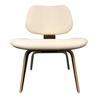 Mid-Century Modern Herman Miller Eames Upholstered Molded Plywood Dining Chair