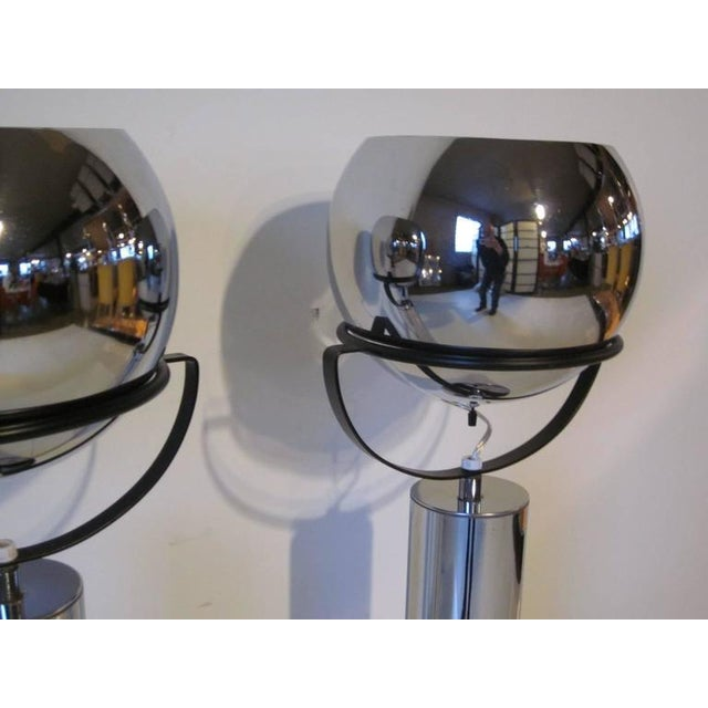 Mid-Century Modern Robert Sonneman Adjustable Ball Table Lamps - a pair For Sale - Image 3 of 7