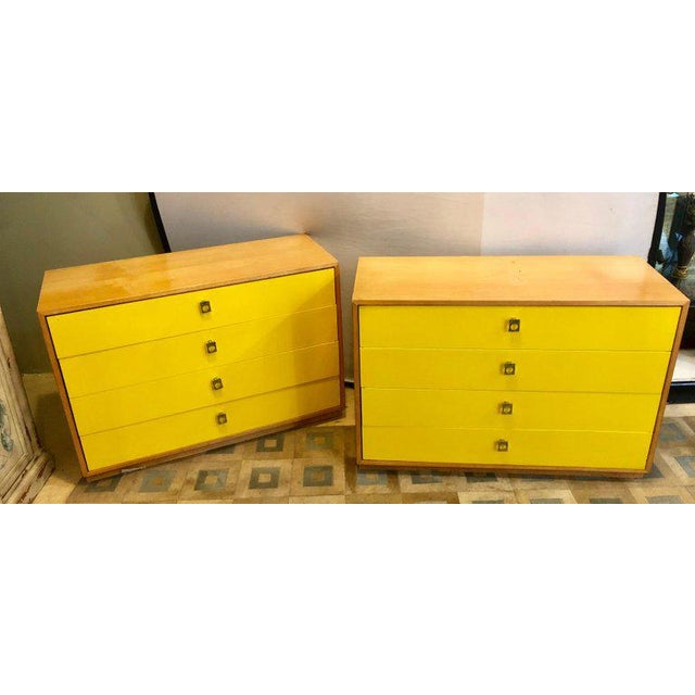 Pair of founders Mid-Century Modern bachelors chests or nightstands or commodes. These signed chest have that distinctive...