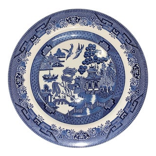 Blue Willow Plate by Churchill England For Sale