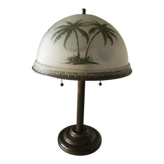 Bombay Style Invert Painted Table Lamp For Sale
