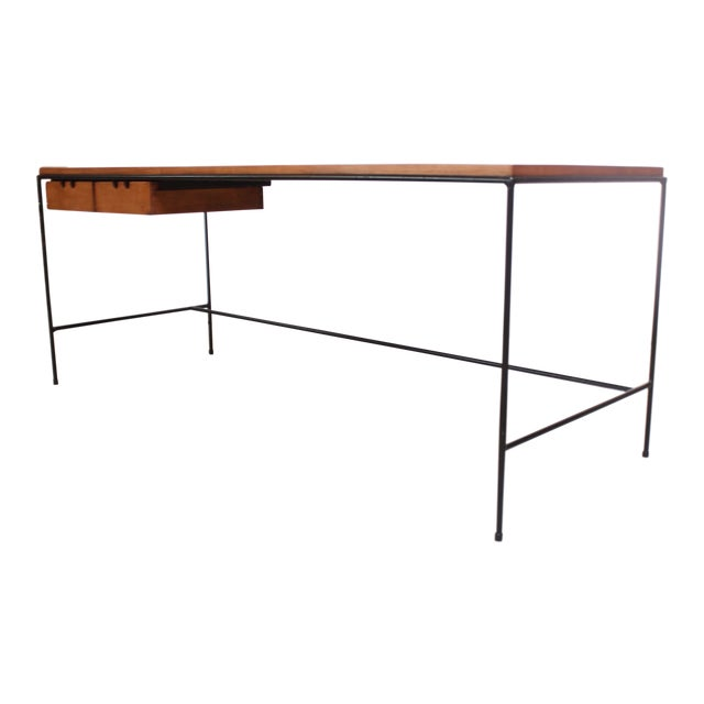 Paul McCobb for Winchendon Maple and Iron Console / Media Table For Sale