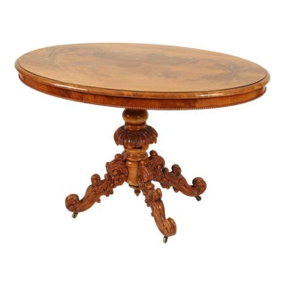 1900s English Loo Center Table For Sale