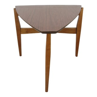 Mid-Century Modern Wedge Shaped Side Table For Sale