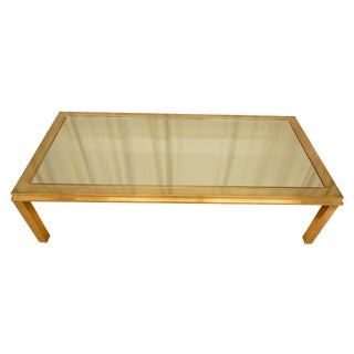 Elegantly Mirrored Mid Century Modern Coffee Table For Sale