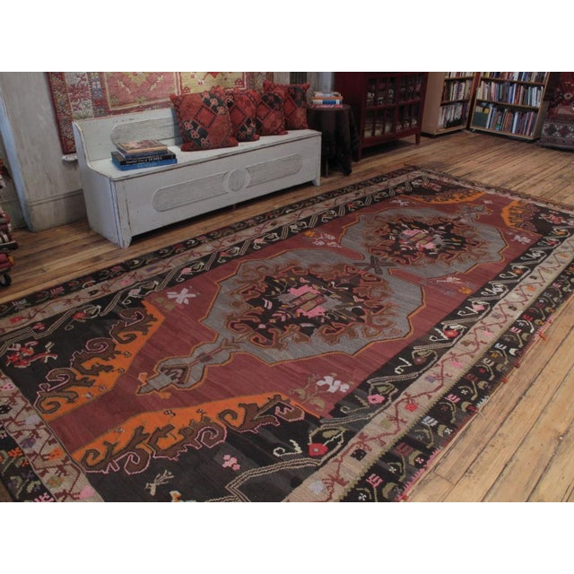 A large and very impressive kilim from Eastern Turkey, in a style reminiscent of antique Russian kilims from Ukraine and...