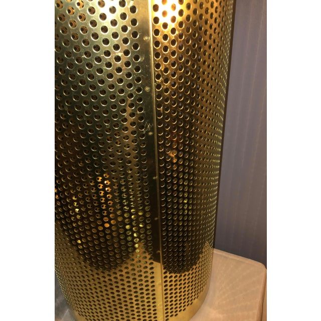 20th Century Italian Brass Wastebasket or Trash Can For Sale In Philadelphia - Image 6 of 7