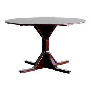 """""""Mod. 522"""" Rosewood Round Table by Gianfranco Frattini for Bernini, 1960 For Sale"""