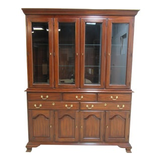 Henkel Harris Mahogany Chippendale China Cabinet For Sale