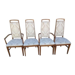 Mid Century Upholstered Dining Chairs - Set of 4 For Sale