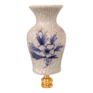 Blue & White Chinoiserie Miniature Vase Lamp Finial