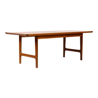 1960s Danish Modern Westnofa Teak Large Rectangular Coffee Table For Sale