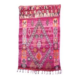 "Boujad Vintage Moroccan Rug, 5'8"" X 9'0"" Feet For Sale"