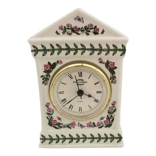 1980s Portmeirion Botanical Garden Desk Clock England For Sale