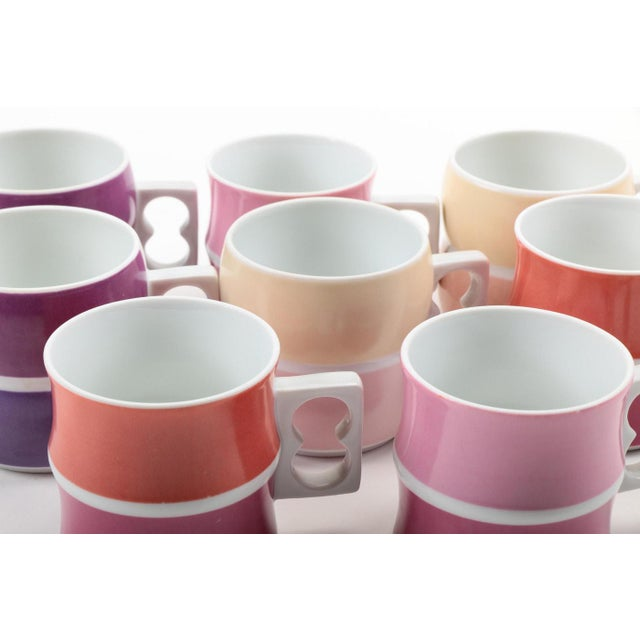 Vintage Block Chromatics Tea Set - Set of 12 For Sale - Image 4 of 10