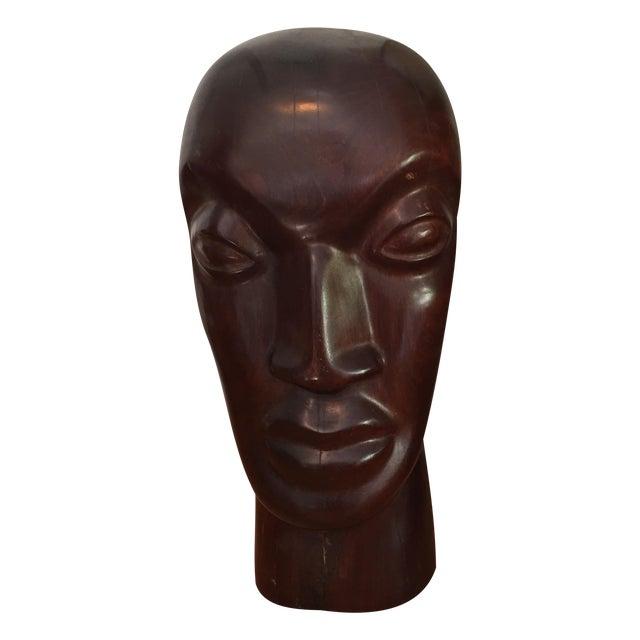 Vintage Hand Carved Ironwood Bust Sculpture For Sale