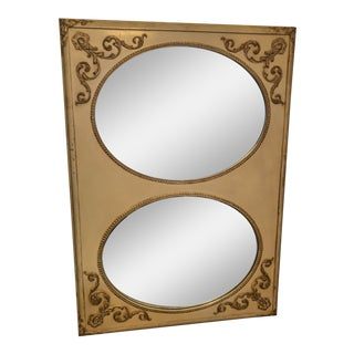 Vintage French Oval Inset Mirror For Sale