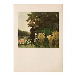 "1951 Henri Rousseau Original ""The Snake Charmer"" Parisian Lithograph For Sale"