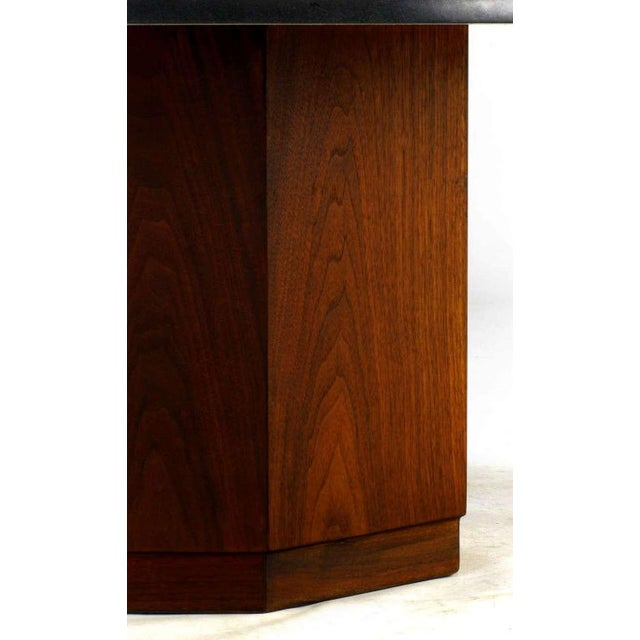 Fred Kemp Walnut & Slate Coffee Table - Image 3 of 3