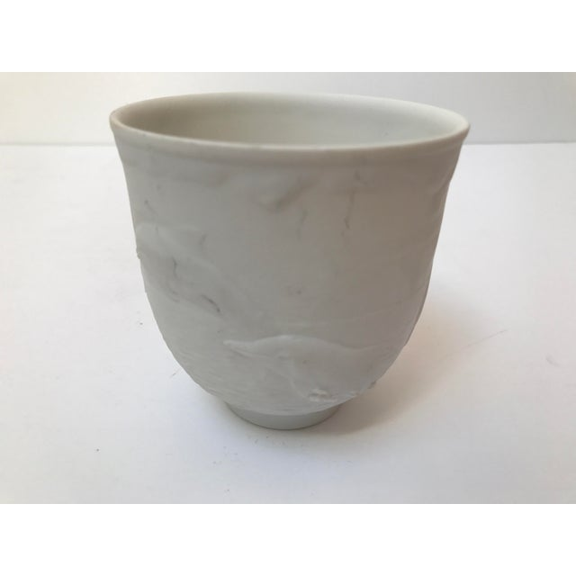 Lladro White Cup With Dolphins For Sale In Chicago - Image 6 of 6