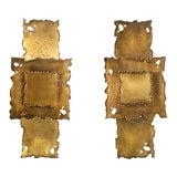 Image of Brass Brutalist Torch Cut Sconces - a Pair For Sale