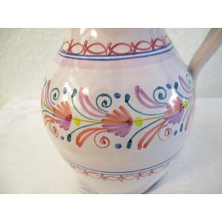 Vintage Spanish Pottery Pinched Spout Pitcher Preview