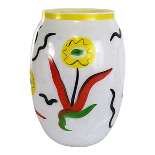Large Hand Painted Kosta Boda Atelier Vase by Ulrica Hydman-Vallien Limited Edition For Sale
