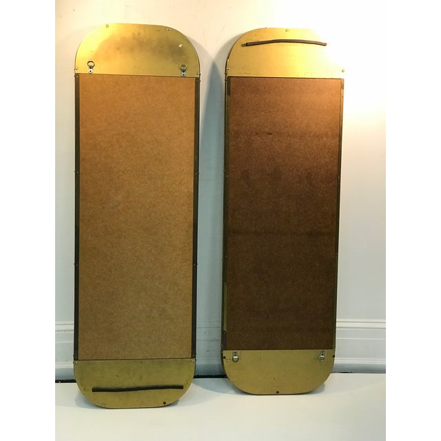 Late 20th Century 1970s Mastercraft Exceptional Brass Mirrors - a Pair For Sale - Image 5 of 6