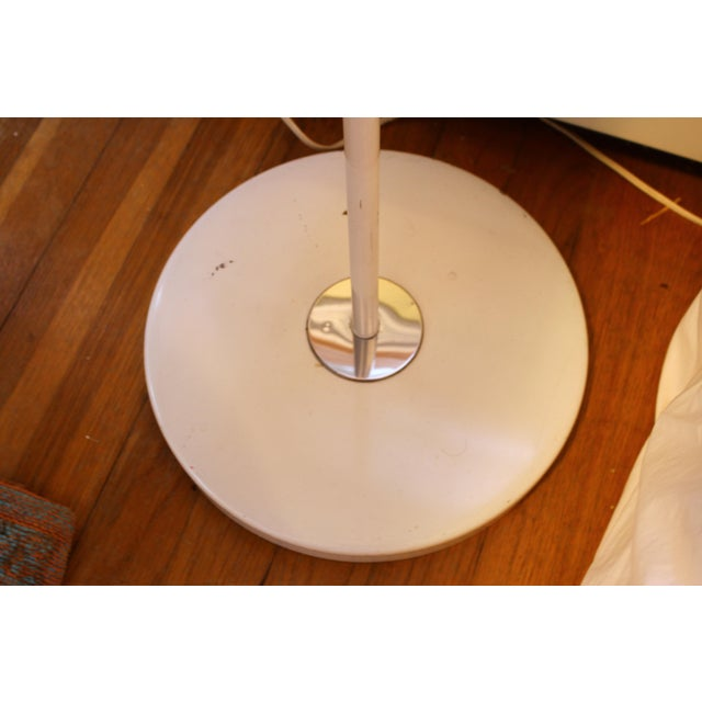 White Mid Century Italian Swing Arm Floor Lamp For Sale - Image 8 of 11