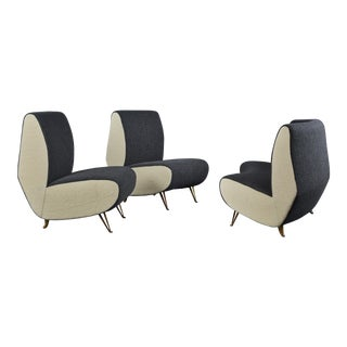 Three-Piece Suite of Sofa & Chairs in the Style of Gio Ponti, by i.s.a. Bergamo For Sale